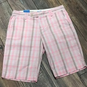 Izod Pink Plaid Bermuda Walking Short